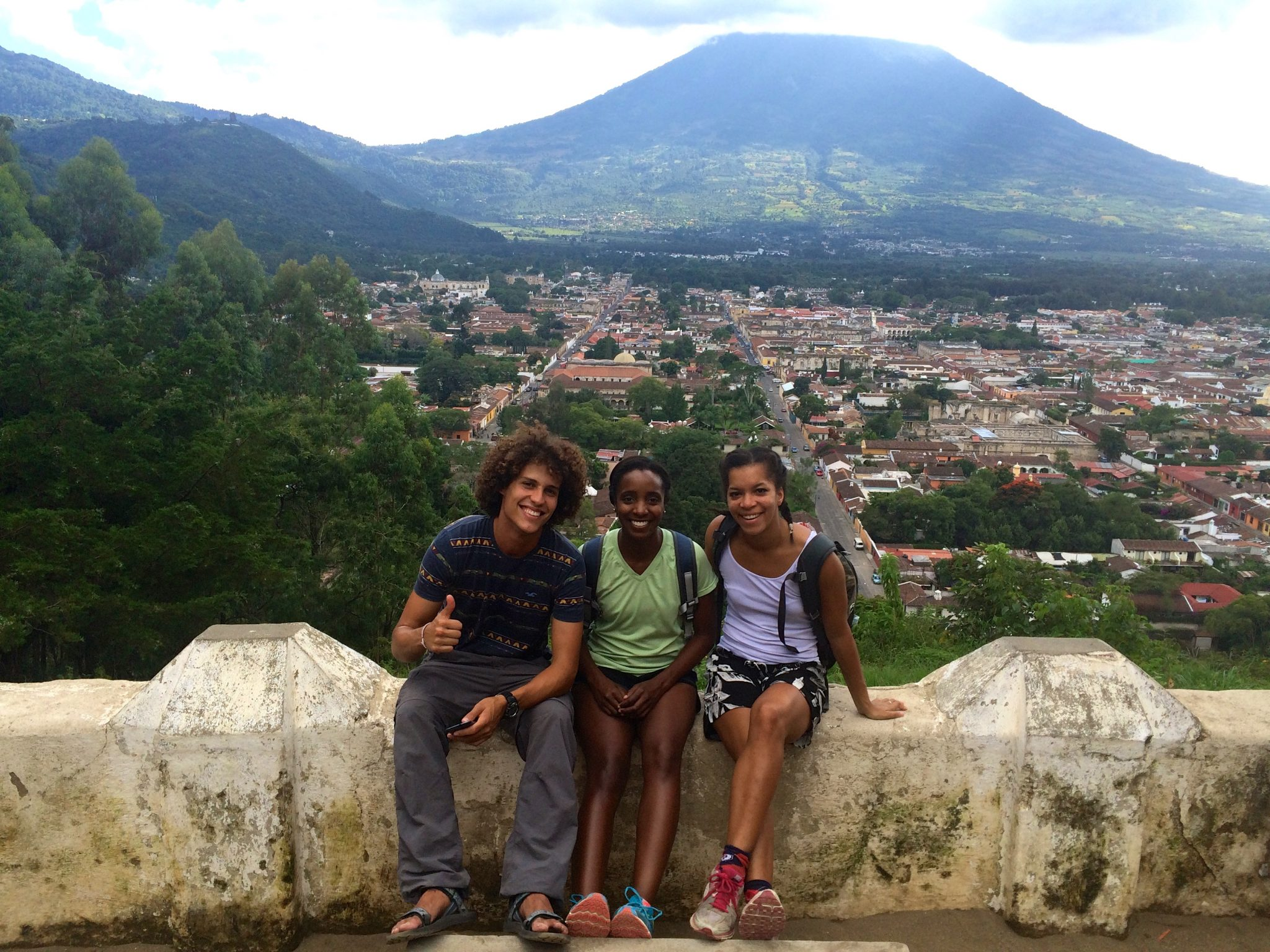 One of the activities was climbing to the top of Cerro de Cruz to get a full view of Antigua and the Volcano