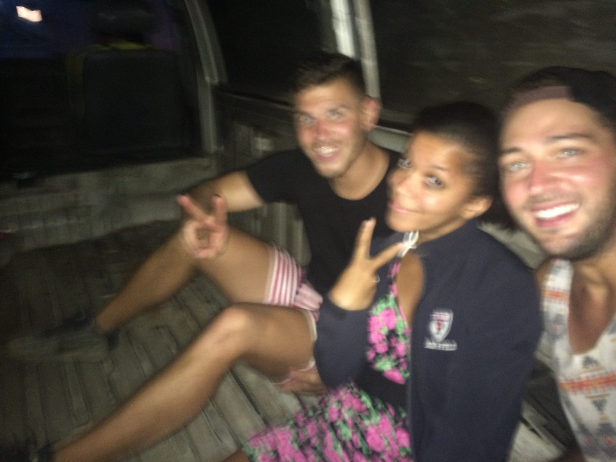 Riding in the back of trucks in Guatemala